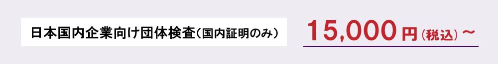 企業向け団体検査 15,000円(税込)